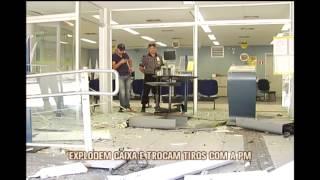 Grupo explode caixa eletr�nico, troca tiros com a PM e dois acabam mortos em Moeda