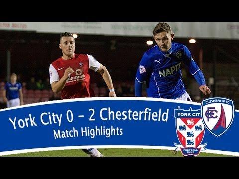 York City 0-2 Chesterfield