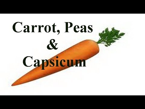 Nursery Rhymes - Carrot Peas And Capsicum