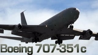 [Military Boeing 707-351c Go Around [HD]] Video