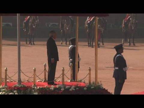 Japan's imperial couple in New Delhi
