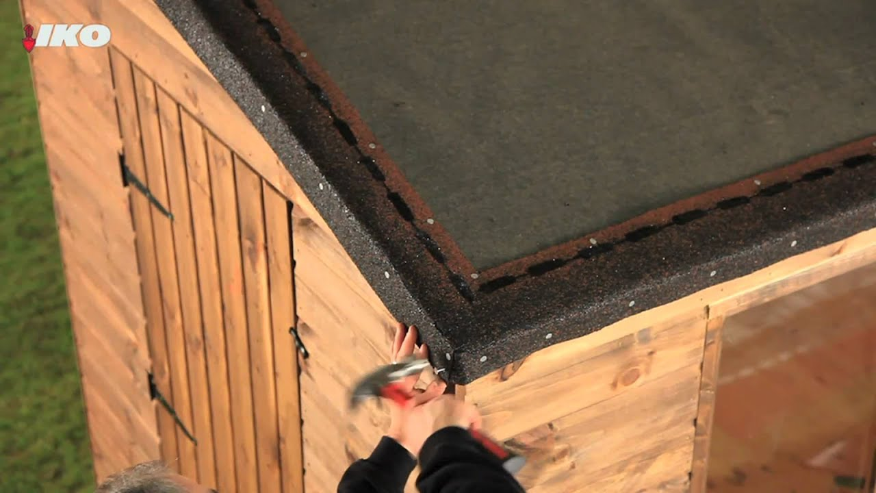 How To Fix Roofing Shingles To Your Shed Youtube