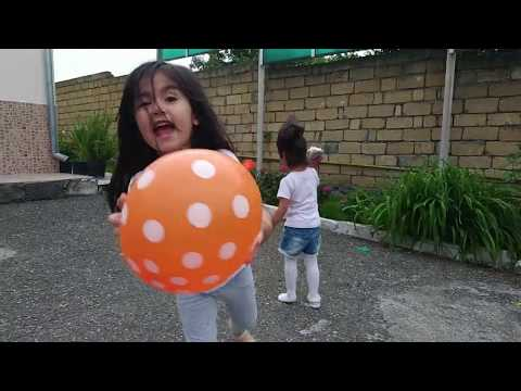 Kids Played with Balloons in Windy Weather/Funny kids videos.