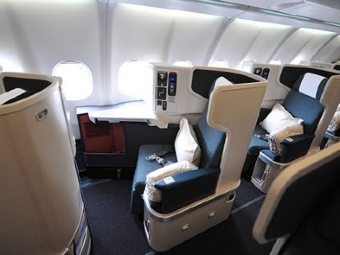 Cathay Pacific NEW Business Class B777-300ER CX840 Hong Kong to New York JFK