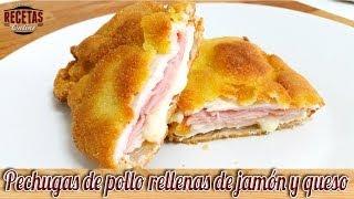 Cordon Bleu de pollo relleno de jamón y queso