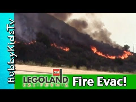 Our Legoland FIRE Evacuation! Carlsbad, California News Update: May 2014 HobbyKidsVids