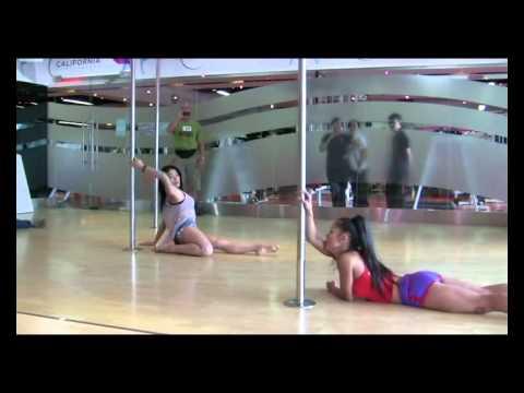 Buổi tập Pole dance đầu tiên của Diệp Lâm Anh