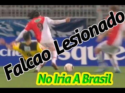 ATERRADORA LECSION DE RADAMEL FALCAO QUEDA FUERA DEL MUNDIAL BRASIL 2014