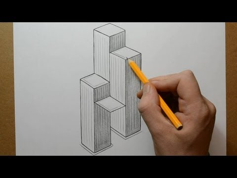 how to draw a skyscraper easy