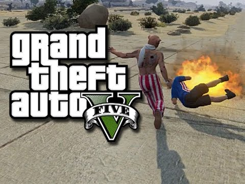 GTA 5 Online Funny Moments! - Desert Airport Madness! (GTA 5 Funny Gameplay)
