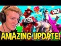 TFUE & STREAMERS REACT TO *NEW UPDATE!* FREE VALENTINE'S DAY REWARDS + MORE! (Fortnite Moments)