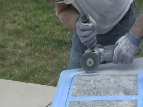 How to Cut & Polish Granite Countertop DIY - Undermount Sink - YouTube