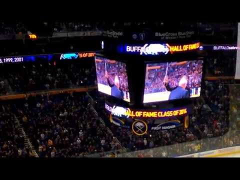 Domink 'The Dominator' Hasek is honored at tonight's game.