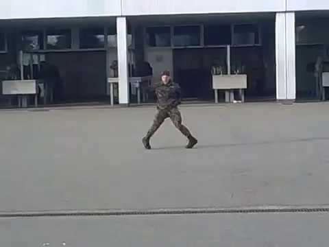 Swiss Soldier dances like Michael Jackson