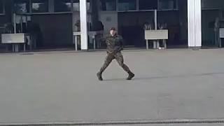 Swiss Soldier dances like Michael Jackson