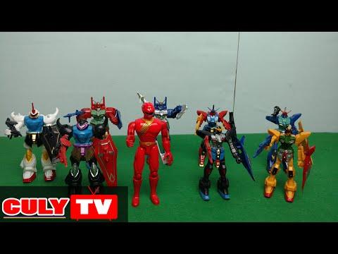binh đoàn robot tranforrmer và siêu nhân gao đỏ đồ chơi trẻ em sưu tập  - toy for kid