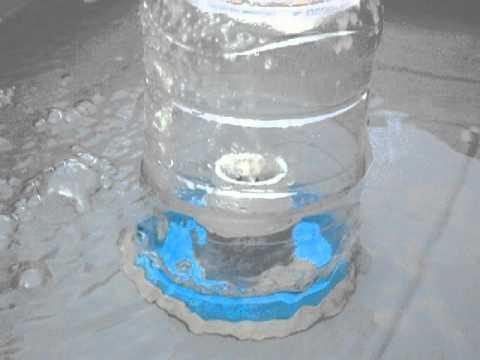Plastic Jar Bell Siphon closeup