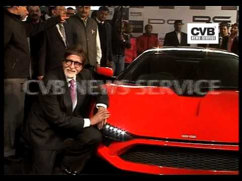 AUTO EXPO 2012: AMITABH UNVEILS DC AVANTI, INDIA'S FIRST SUPERCAR