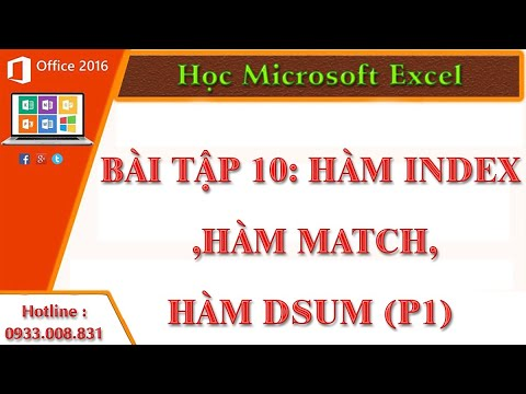 Hàm Index ,Hàm Match,Hàm Dsum (P1)