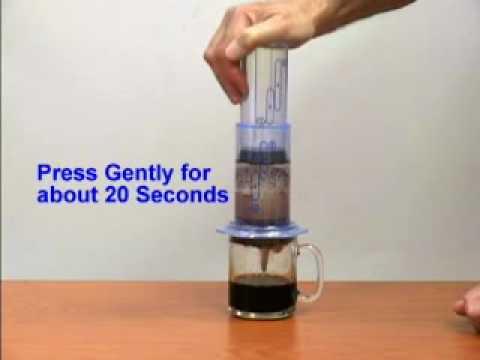 Aeropress Coffee Maker Directions : Aerobie Aeropress Coffee/Espresso Maker - YouTube