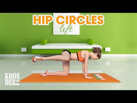 Bài tập mông #20 Hip Circles Left cho vòng 3 quyến rũ