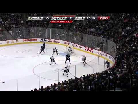 Winnipeg Jets vs Pittsburgh Penguins Highlights 10/17/11