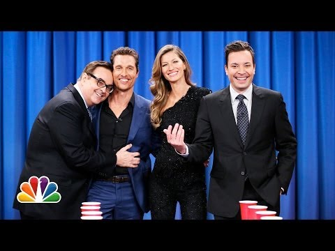 Flip Cup with Gisele Bundchen and Matthew McConaughey