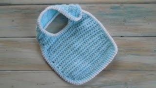 (crochet) How To Crochet A Newborn Baby Bib Yarn Scrap