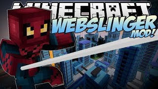 Minecraft | WEBSLINGER MOD! (Swing Through the City like Spiderman!) | Mod Showcase