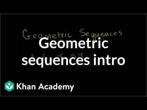 Geometric Sequences (Introduction)