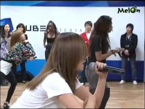 [CLIP] 100000 4minute & Amerie - Rehearsal