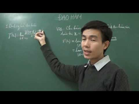Lý thuyết về đạo hàm - định nghĩa đạo hàm - Công thức đạo hàm cơ bản