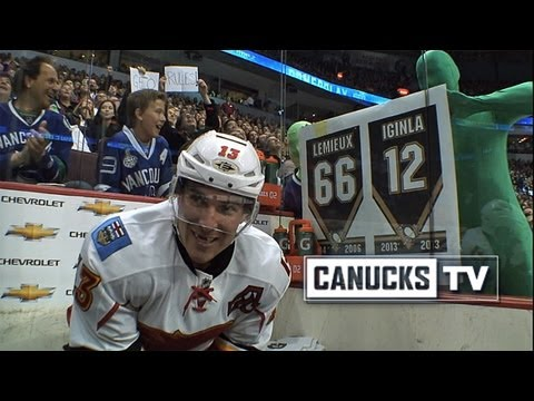 Vancouver's Green Men Make Cammalleri Laugh