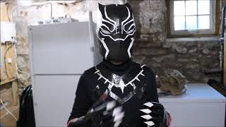 PUTTING ON MY BLACK PANTHER COSTUME
