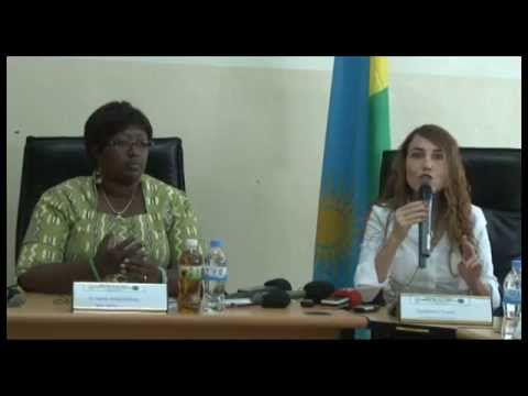 PrePex Press Conference / Dr. Agnes Binagwaho (Rwanda) and Tzameret Fuerst (PrePex)