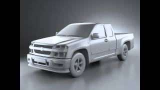 3D Model of Chevrolet Colorado Extended Cab 2012 videos