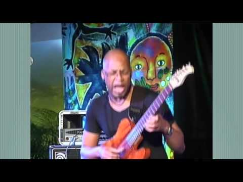 Lionel Loue'ke' Trio--guitar sings from Africa and the Blues--2014 Port-au-Prince Jazz Festival