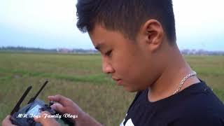 Đại Nghĩa Lần Đầu Tập Lái Flycam - Tập Điều Khiển DJI Mavic Pro Cùng Với Bố