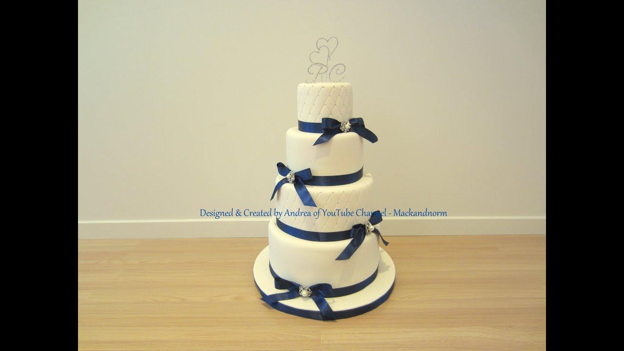 Classic Wedding Cake 4 Tier Round Wedding Cake