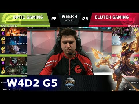 OpTic Gaming vs Clutch Gaming | Week 4 Day 2 S8 NA LCS Summer 2018 | OPT vs CG W4D2