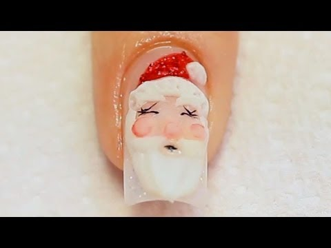 Christmas Nail Designs: Acrylic Nail Art Santa Tutorial Video by Naio Nails