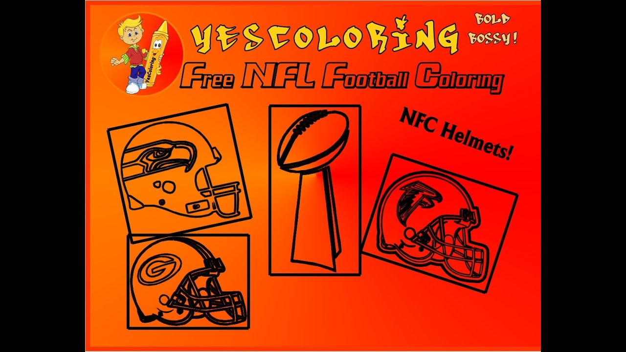 "... Coloring Pages"" - NFL Coloring NFC Teams, Pro Football Coloring Pages"