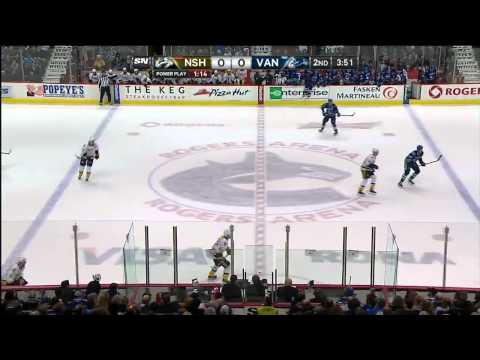 Nashville Predators vs Vancouver Canucks 19.03.2014