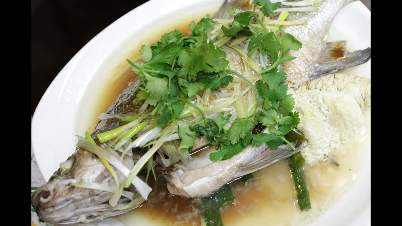Steamed whole fish youtube for Steamed whole fish