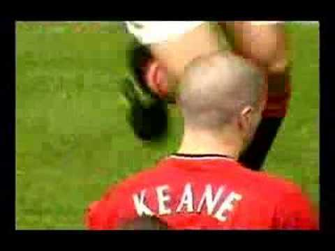 Roy Keane Ends Hland's Career In Manchester Derby