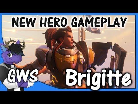 Brigitte Overwatch Gameplay - First Impression of Brigititte Breakdown - NEW HERO Guide And Tips -