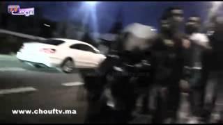 بالفيديو..مرة أخرى دراجة نارية كبيرة دخلات فسيارة و الضحية يتألم..ديوني للسبيطار  