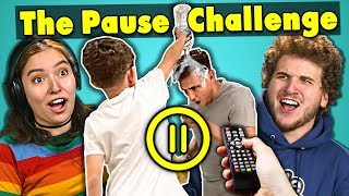 College Kids React To The Pause Challenge Compilation