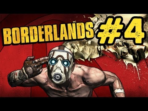 Borderlands Walkthrough: Part 4 - Oh No Big Boss Time (Gameplay/Commentary) PS3 PC Xbox