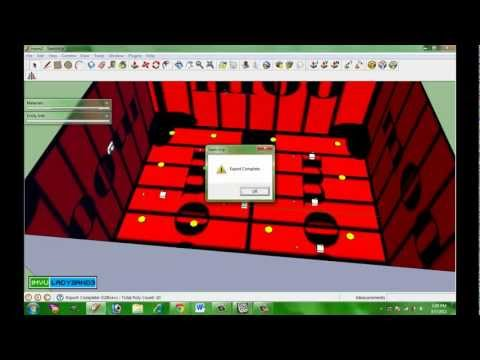 SketchUp to IMVU Tutorial: A Room in 10 steps & 7 mins,